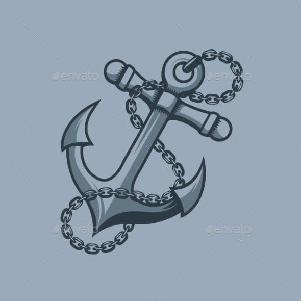 Anchor Sailors Symbol Tattoo Style