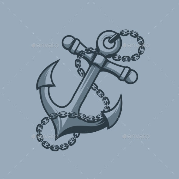 Anchor Sailors Symbol Tattoo Style - Tattoos Vectors