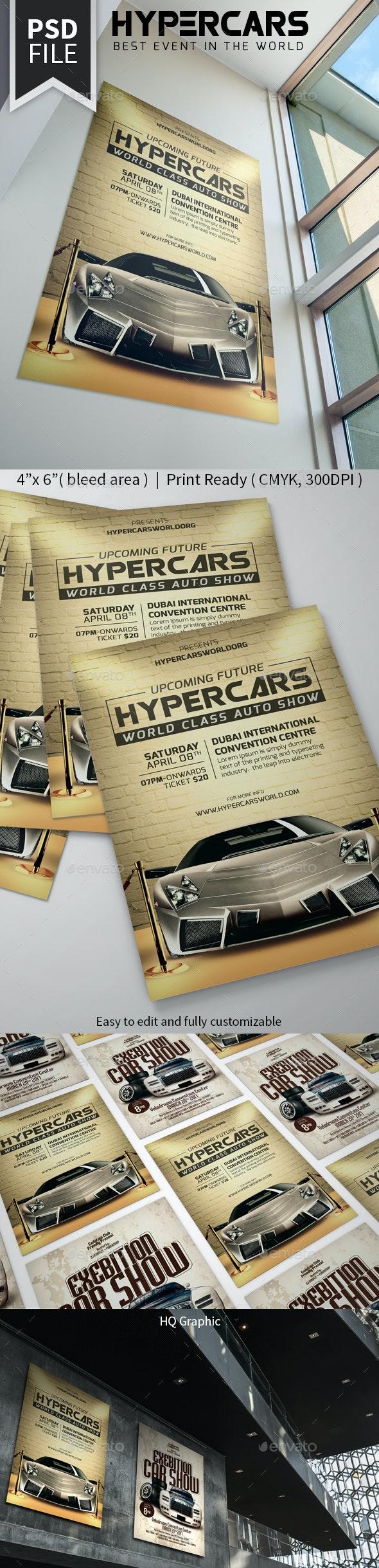 Hypercars Auto Show Flyer - Events Flyers