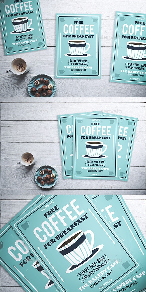 Free Coffee Flyer - Flyers Print Templates
