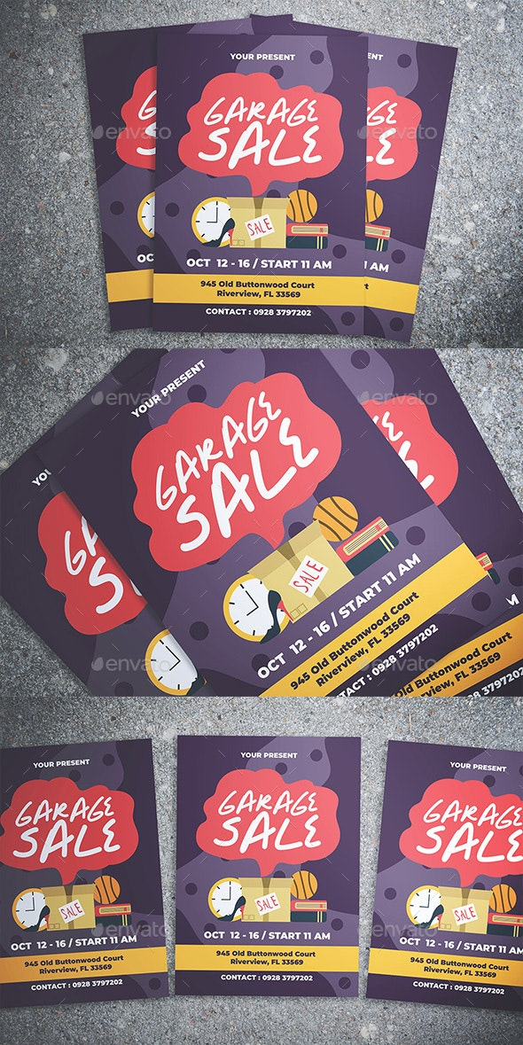 Garage Sale Flyer - Flyers Print Templates