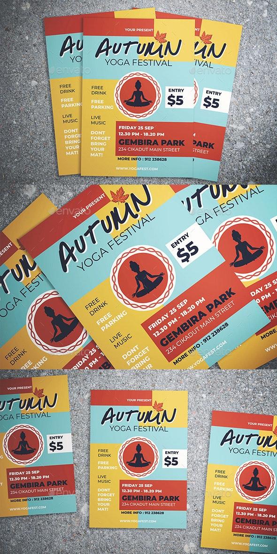 Autumn Yoga Fest Flyer - Flyers Print Templates