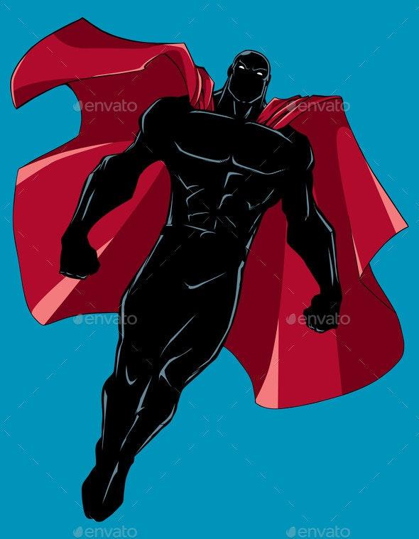 Superhero Flying Silhouette 6 - People Characters