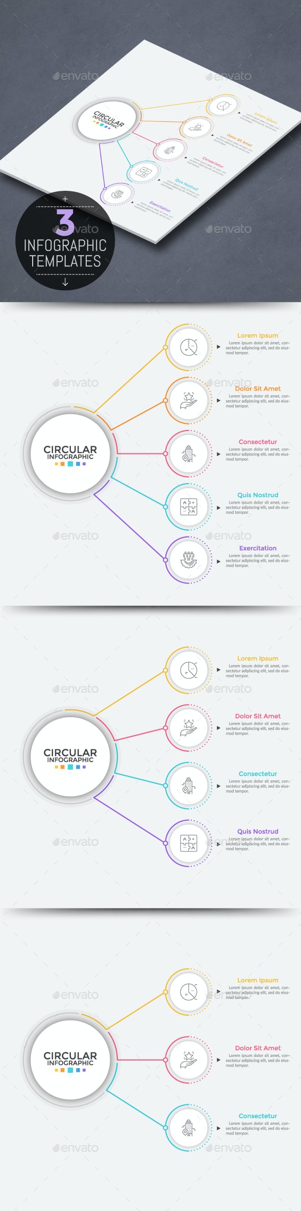 Modern Infographic Linear Choice Template - Infographics