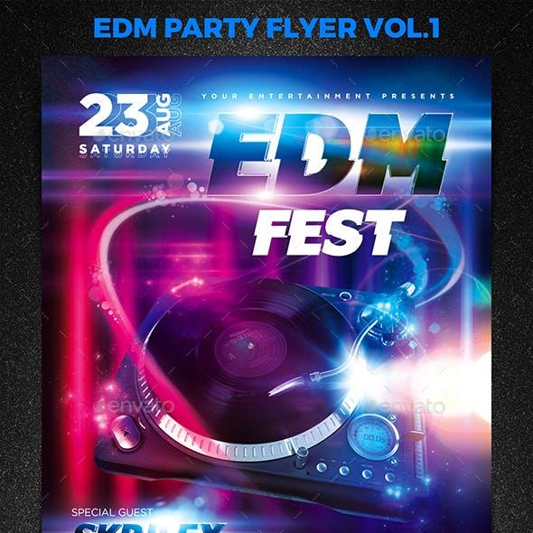 EDM Party Flyer Vol.1