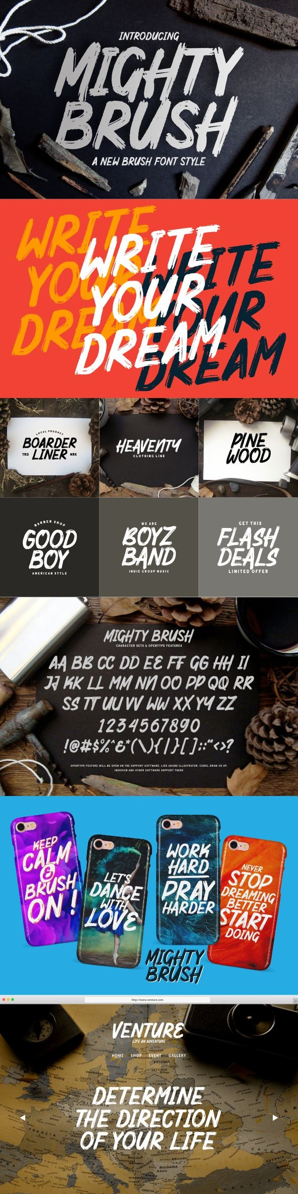 Mighty Brush Fonts - Graffiti Fonts