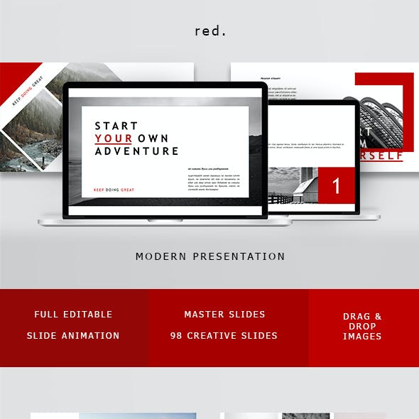 Red Minimal Powerpoint
