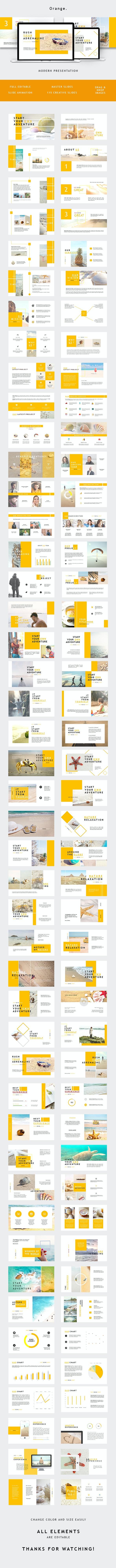Orange Minimal Keynote - Keynote Templates Presentation Templates