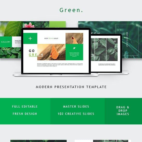Green Minimal Powerpoint