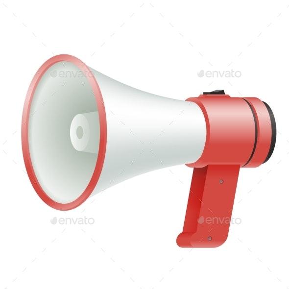 Loud Speaker Megaphone Loudspeaker Voice Amplifier - Man-made Objects Objects