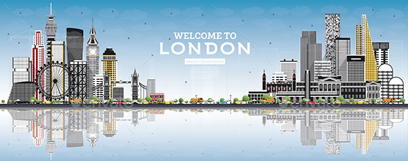 Welcome to London England Skyline - Buildings Objects