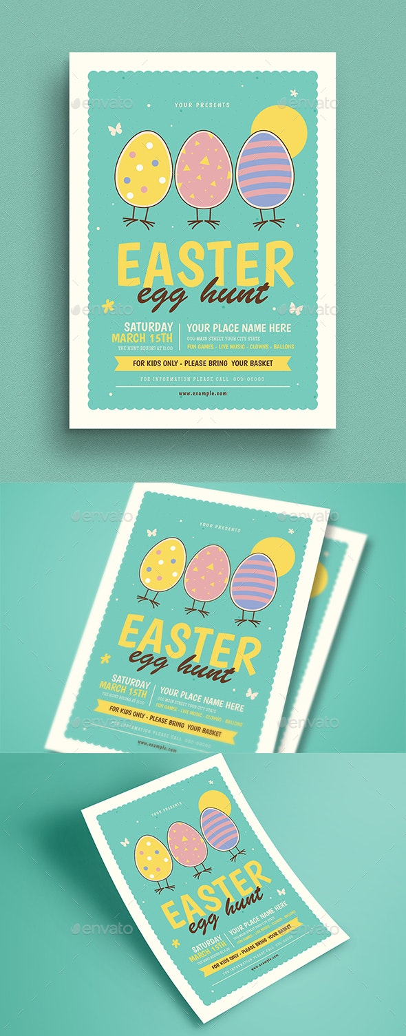 Easter Egg Hunt Event Flyer - Events Flyers