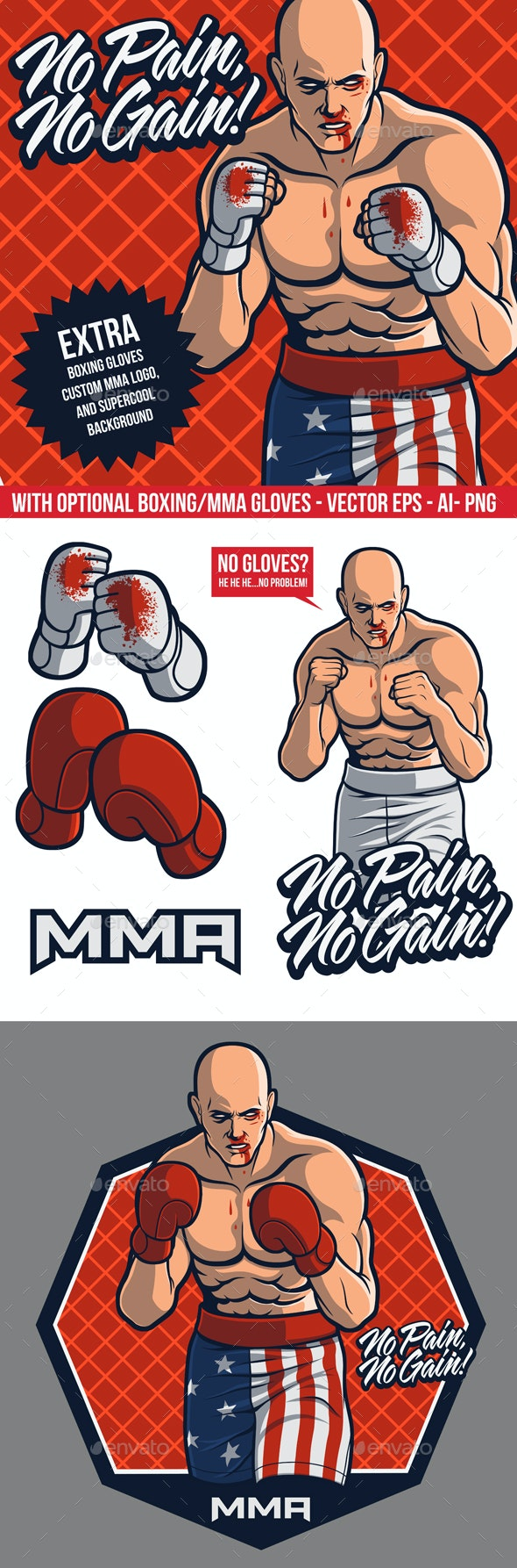 Wounded MMA Fighter - People Characters