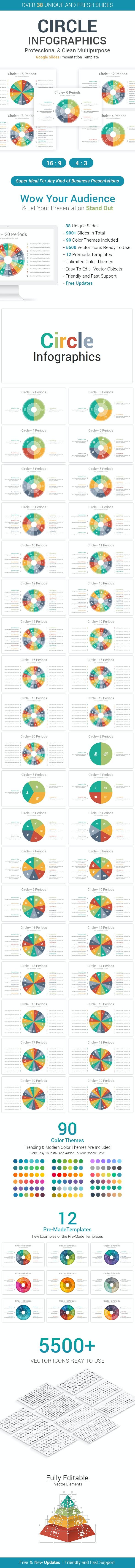 Circle Infographics Google Slides Template Diagrams - Google Slides Presentation Templates