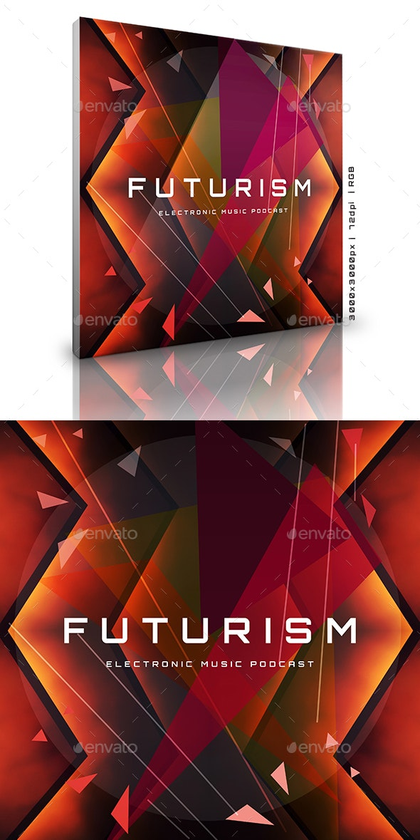 Futurism Electronic Music Podcast Cover Album Template - Miscellaneous Social Media