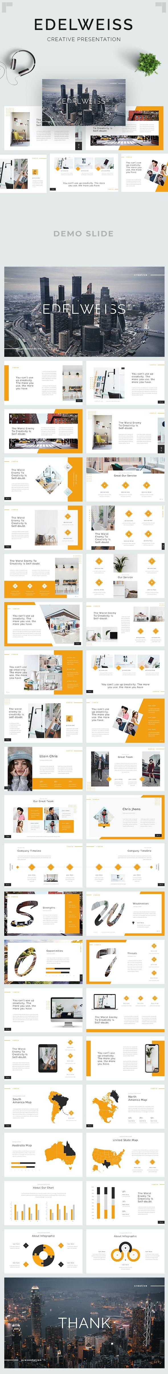 Edelweiss - Creative Google Slides Template - Google Slides Presentation Templates