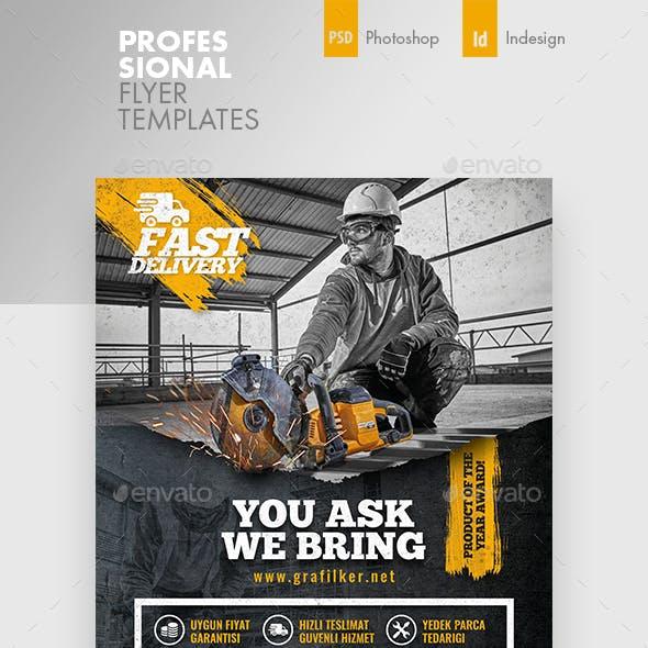 Construction Flyer Templates