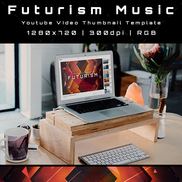 Futurism Music Youtube Video Thumbnail Template