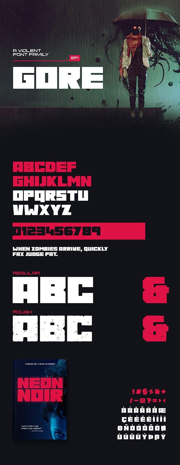Gore Typeface - Decorative Fonts
