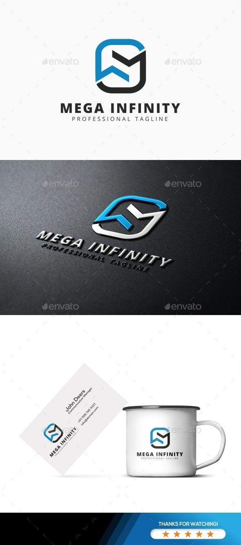 M Letter - Mega Infinity Logo - Letters Logo Templates