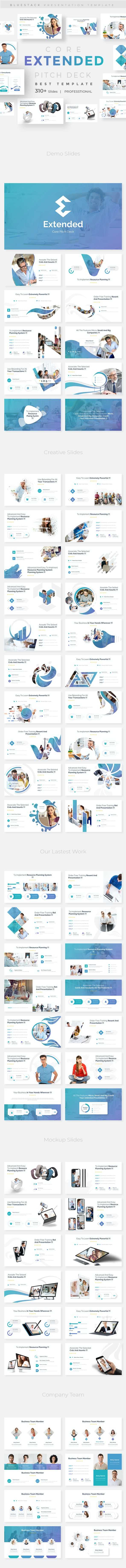 Extended Core Pitch Deck Powerpoint Template - Business PowerPoint Templates