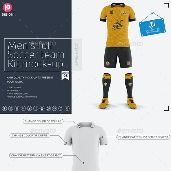 Men's Full Soccer Team Kit Mockup V8