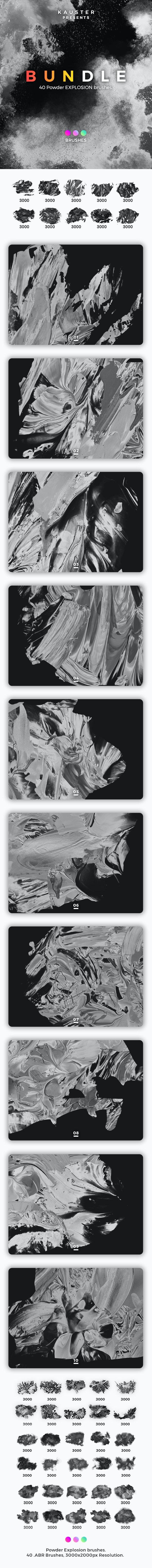 Powder Explosion Brushes Bundle - Artistic Brushes
