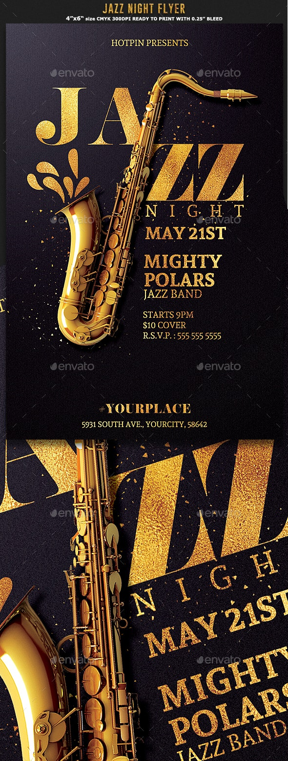 Jazz Flyer Template - Events Flyers