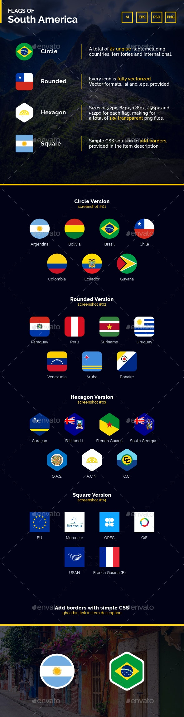 Flags of South America - Flag Icons - Icons