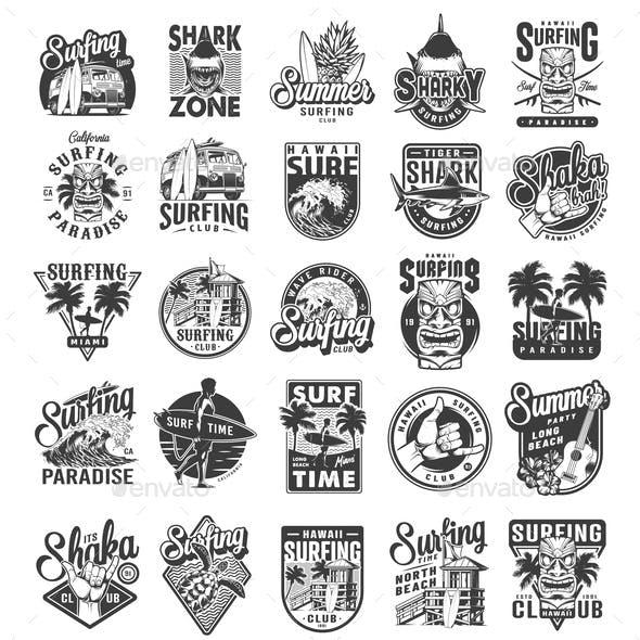 Vintage Surfing Labels