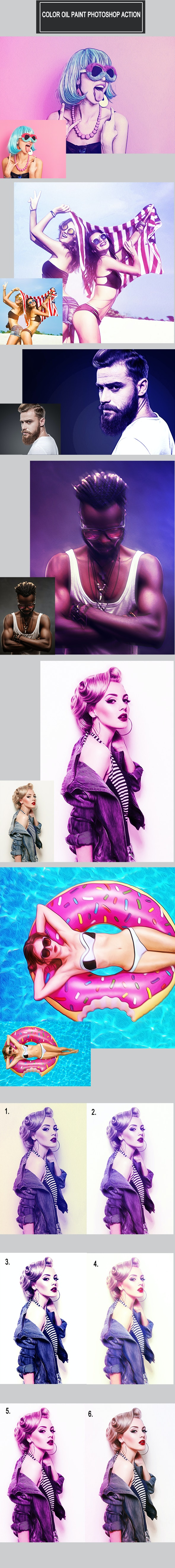 Color Oil Paint Photoshop Action - Photo Effects Actions