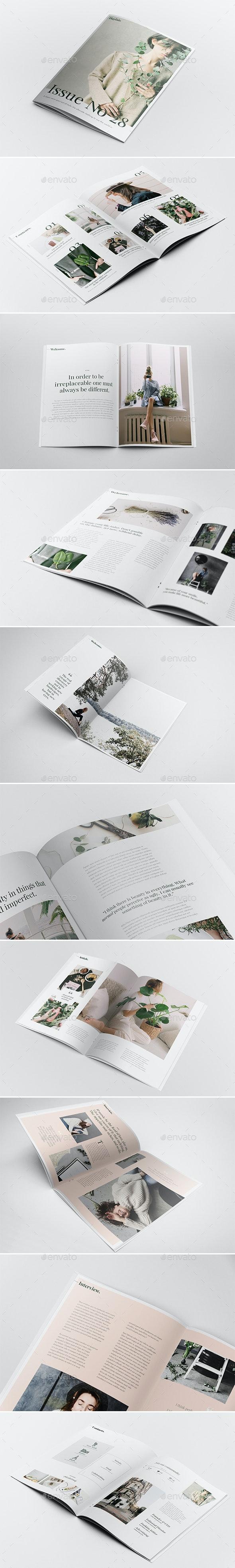 Playfair Magazine Template - Magazines Print Templates