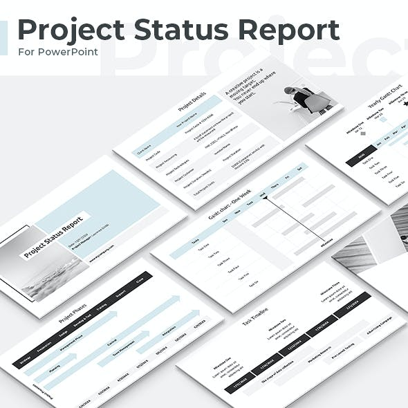Project Status Report PowerPoint Template