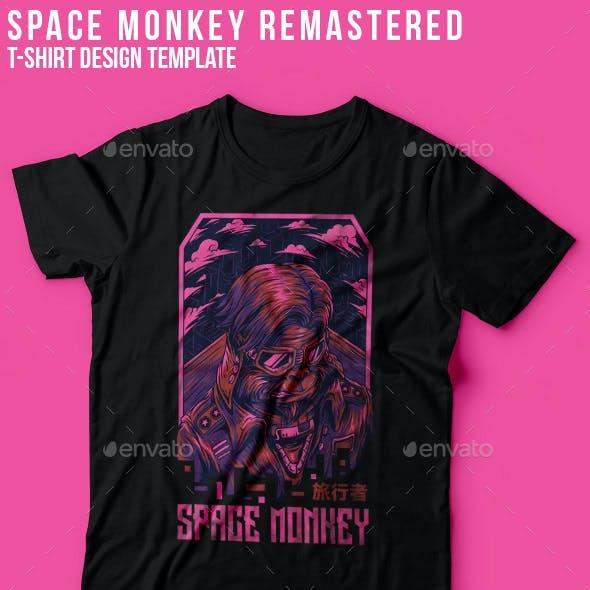 Space Monkey Remastered T-Shirt Design