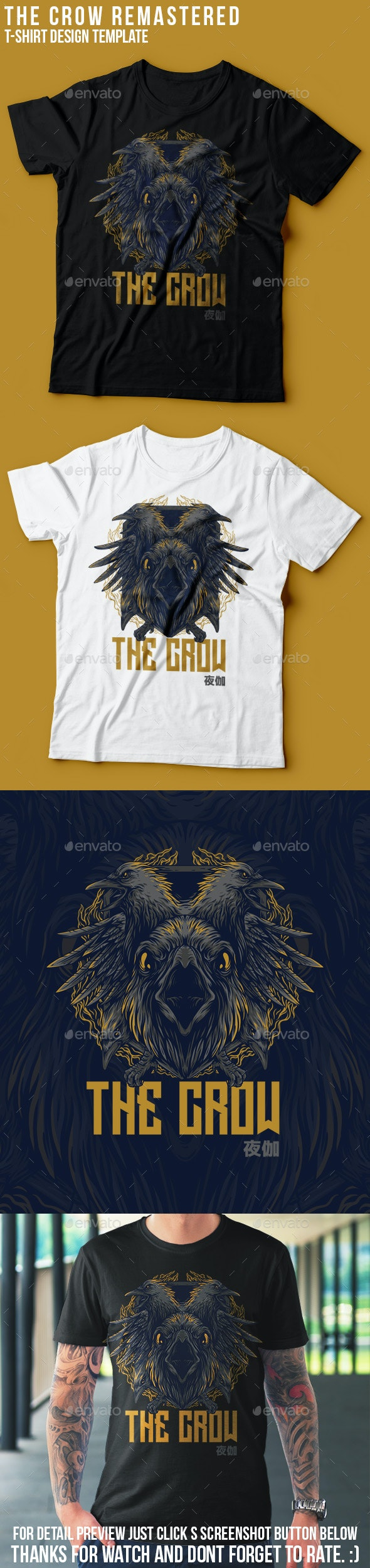 The Crow Remastered T-Shirt Design - Sports & Teams T-Shirts