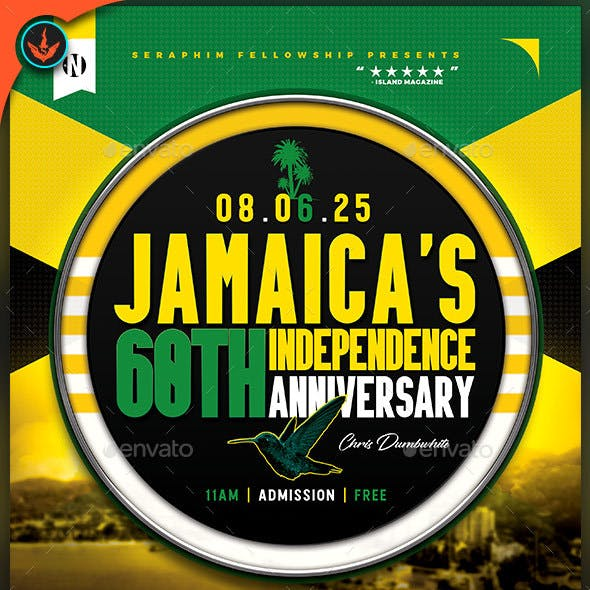 Jamaica's Independence Flyer Template