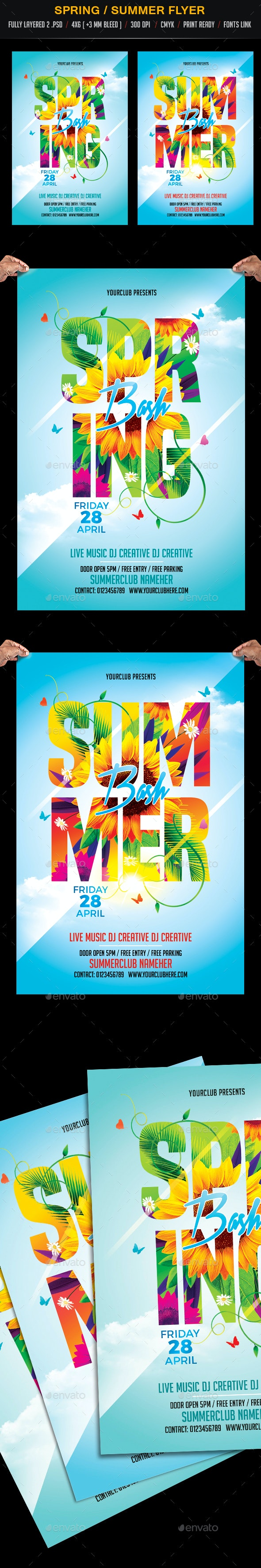 Spring Bash and Summer Bash - Clubs & Parties Events