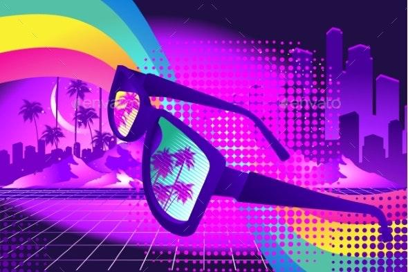 Retro Party Wave - Backgrounds Decorative