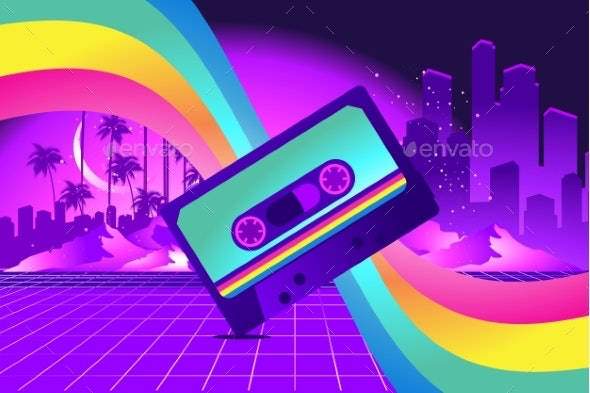 Retro Style Pop Disco - Backgrounds Decorative