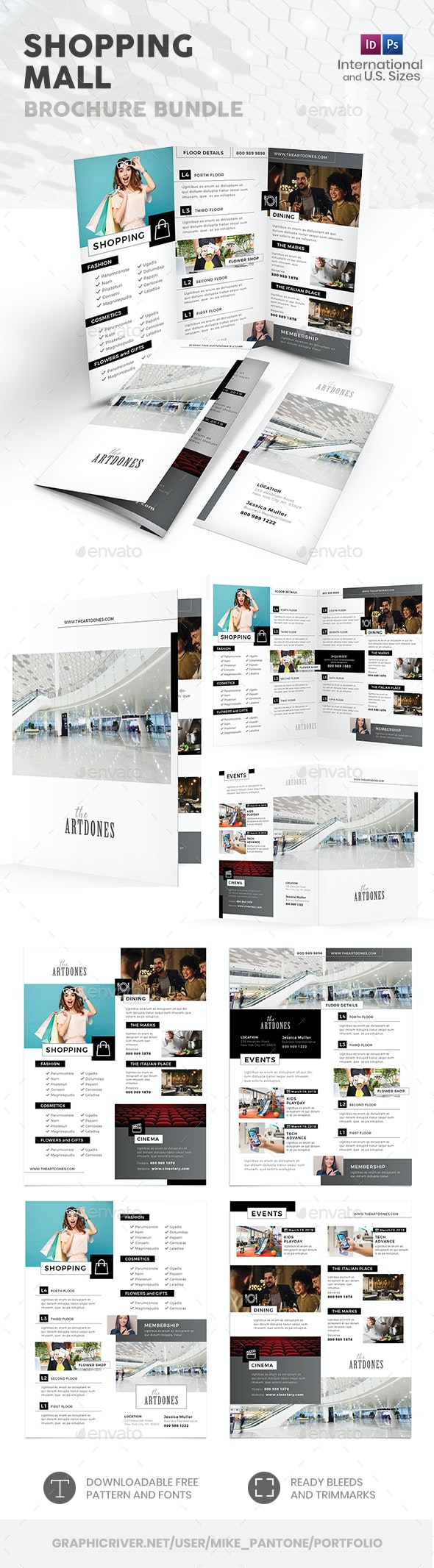 Shopping Mall Print Bundle - Informational Brochures