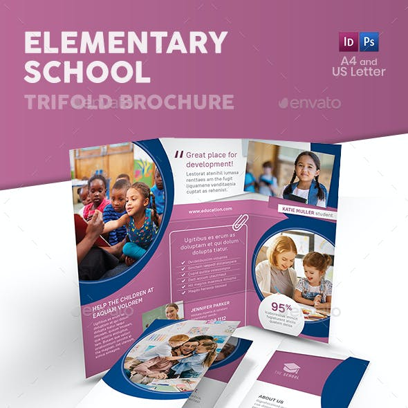 Elementary School Trifold Brochure