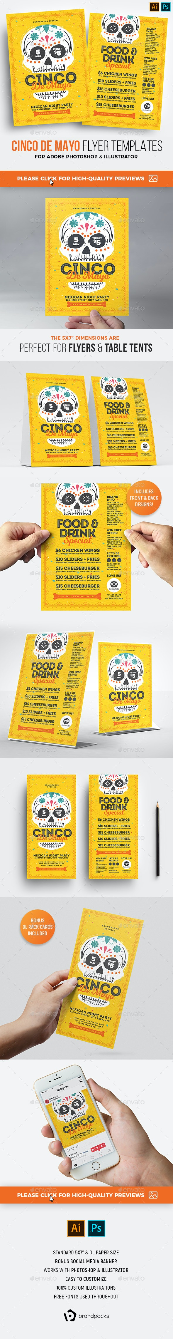 Cinco de Mayo Flyers - Holidays Events