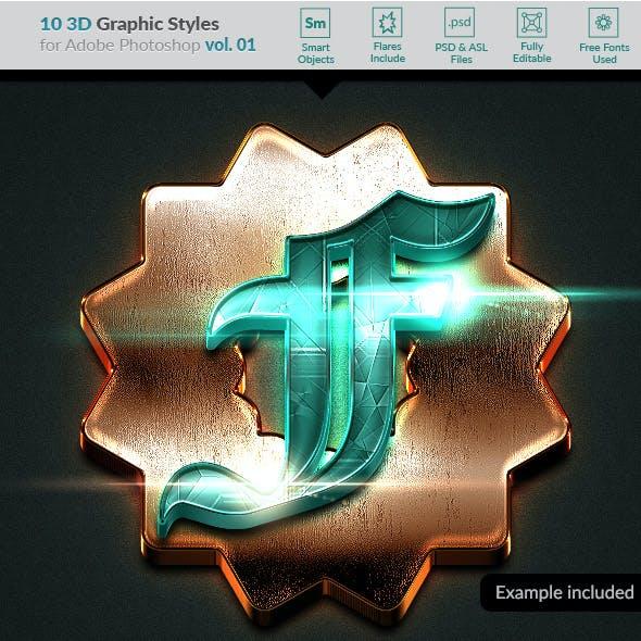 10 3D Styles vol. 01