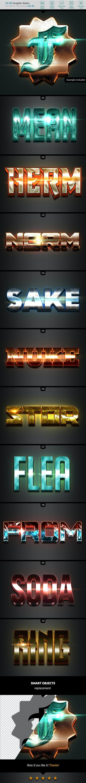 10 3D Styles vol. 01 - Styles Photoshop