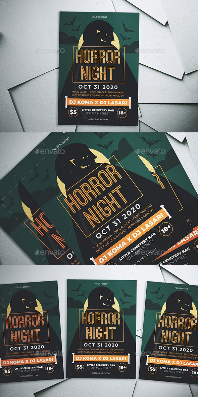 Halloween Horror Night Flyer - Flyers Print Templates