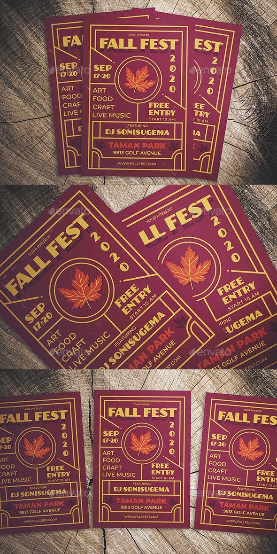 Fall Fest Flyer - Flyers Print Templates