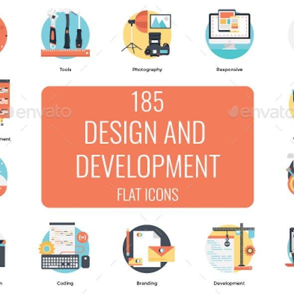 185 Design and Development Flat Icon