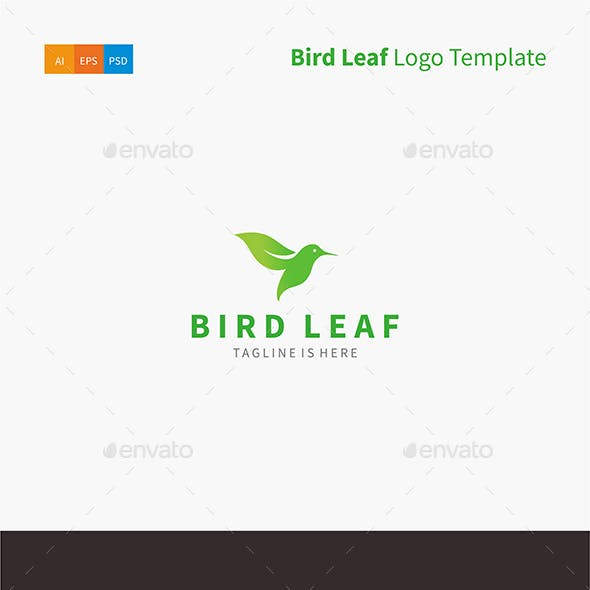Bird Leaf Logo Template