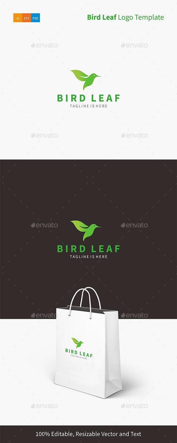Bird Leaf Logo Template - Animals Logo Templates