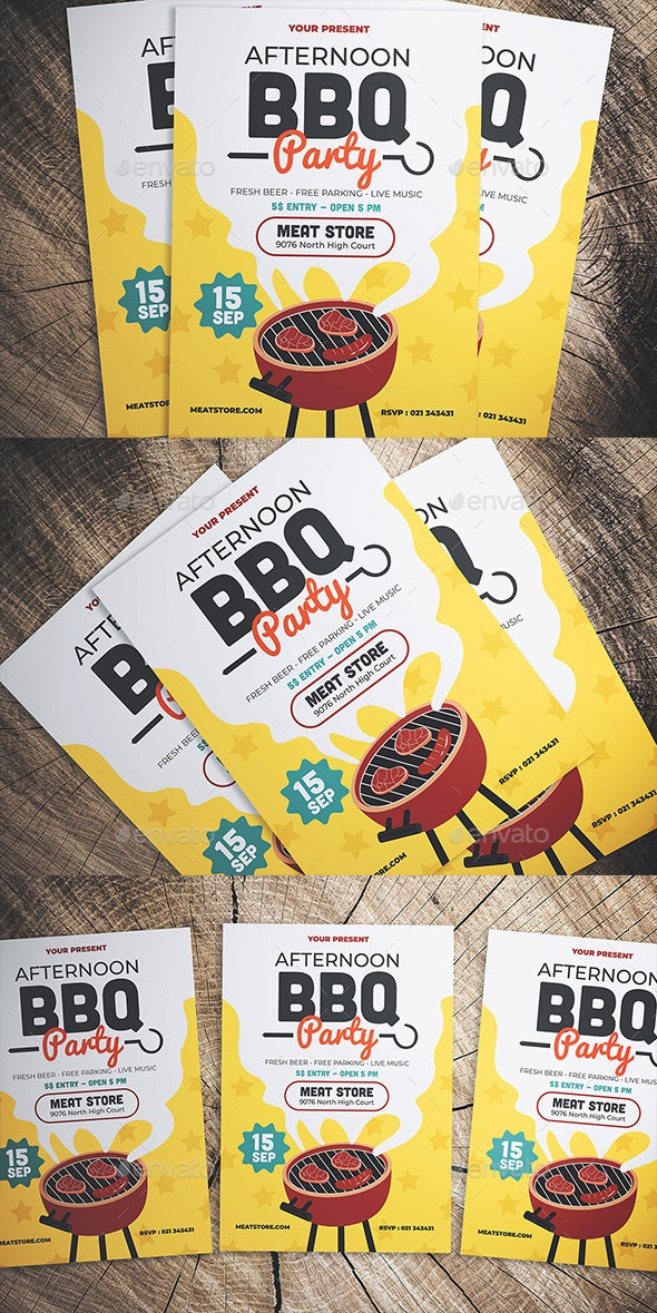 Barbeque Party Flyer - Flyers Print Templates